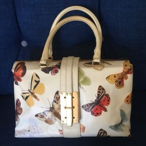 Alexander McQueen Butterfly Coated Canvas Bag.